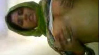 Sexy young muslim girl first time exposed by her cousin
