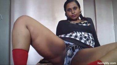 South Indian pornstar Lily exposed and masturbate on demand