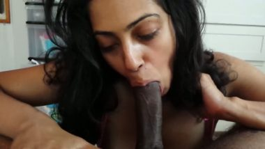 Indian Girls first time sucking black big cock