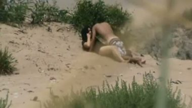Desi porn of sexy figure girl outdoor fucked by lover