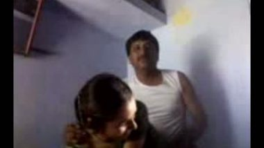 Quick pussy banging from behind with Bihari maid