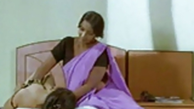 Bollywood sizzling oil massage from B-grade movie