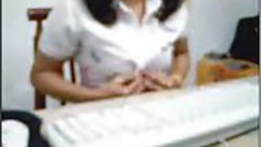indian woman in office cam