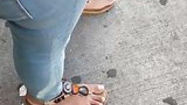 Candid indian girl feet need pedi 3