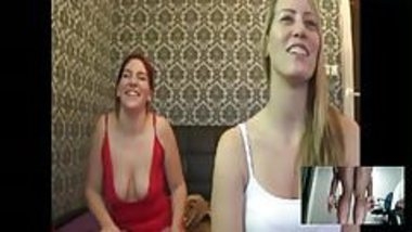 Two models humiliate me (double dildo fucking)