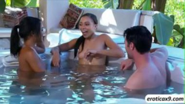 Hot Threesome Inside The Pool