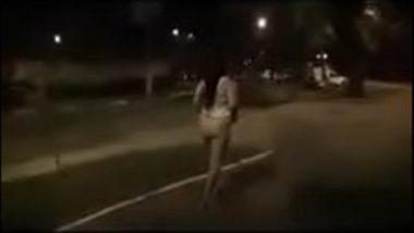 Bold Indian Aunty Walking Naked On Street