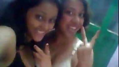 two desi college girls masti in bra and panties selfie nude